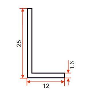 Angle – 25 x 12 x 1.6