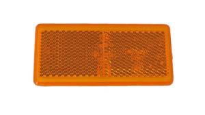 Stick On – Amber Reflector – 65mm x 35mm