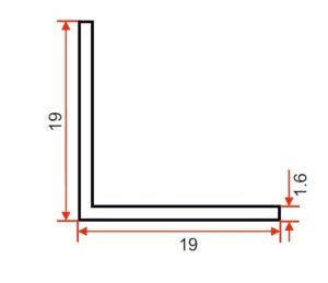DIE 15297 – Angle – 19 x 19 x 1.6