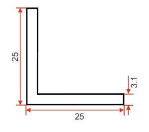 DIE 15156 – Angle – 25 x 25 x 3.1