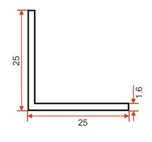DIE 15359 – Angle – 25 x 25 x 1.6