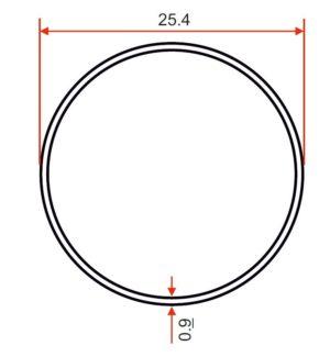 Chrome Tube – 25.4 x 0.9