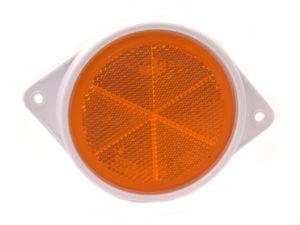 Plastic Base – Amber Reflector – 76mm
