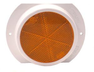 Steel Base – Amber Reflector – 76mm