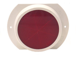 Steel Base – Red Reflector – 76mm