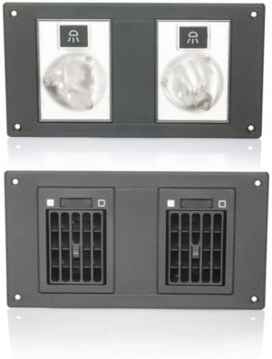 Grey Light / Single Air Vent – P390-66929