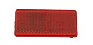 Bolt On – Red Reflector – 90mm x 38mm